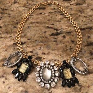 Lulu Frost gold tone charm mirror necklace